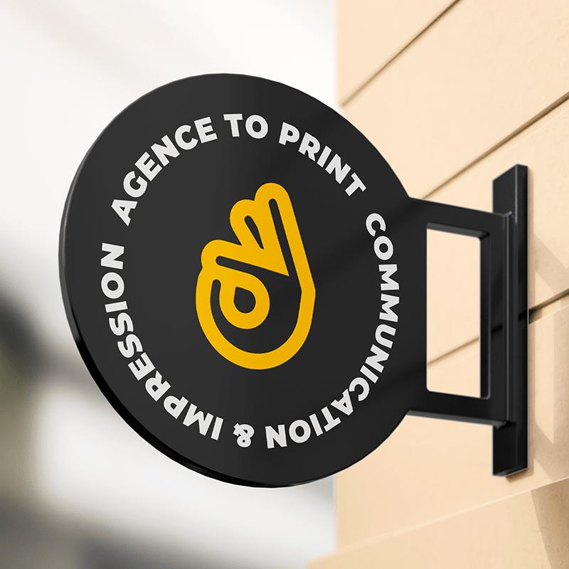 Enseigne avec le logo Agence To Print