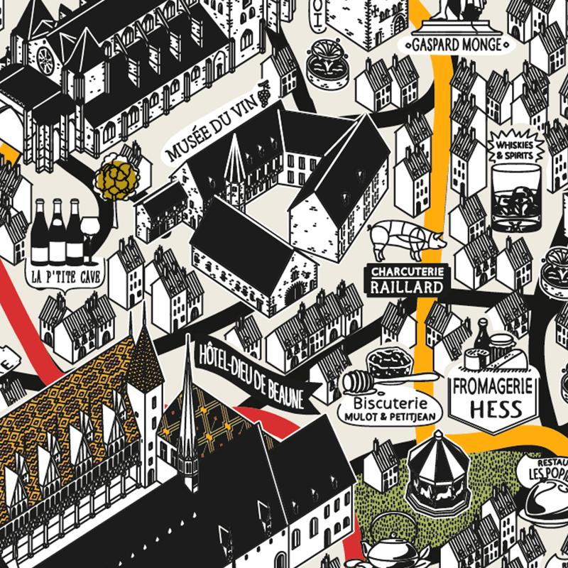 Illustration de la ville de Beaune