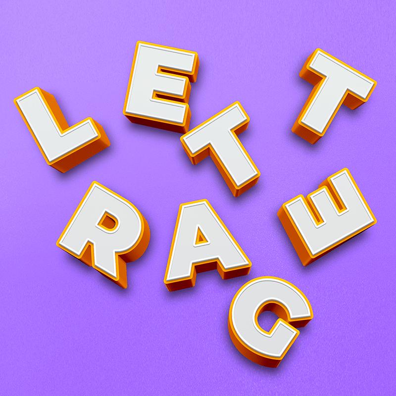 photographie représentant des lettres formant le mot lettrage