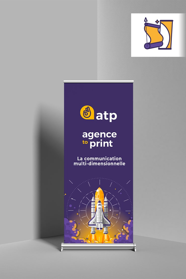 image représentant un roll up agence to print